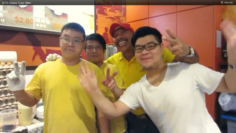 Friendly and nice staff from HK Egglet stall!