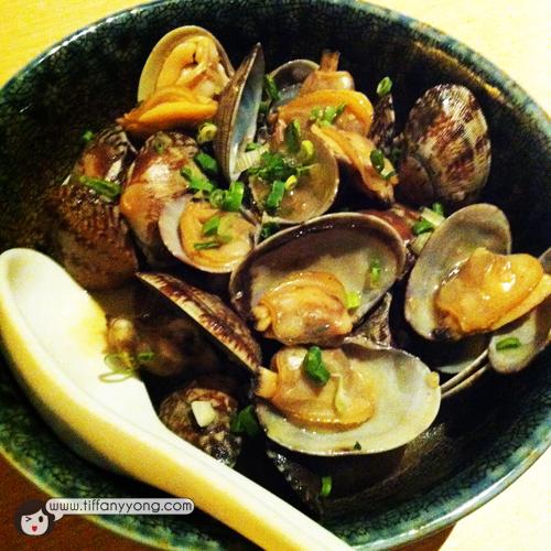 Asari Butter $14Asari clams sauteed with butter and soya sauce