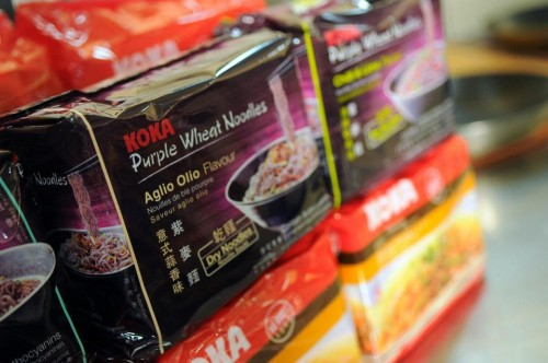 Koka Purple Wheat Noodles, Aglio Olio flavour x 2 packs