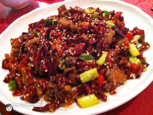 重庆辣子鸡 $18Sauteed Chicken with Chili and Pepper, Chong Qing Style