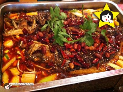 招牌烤鱼 $28 (Regular) $32 (Large) House Special Charcoal Grilled Live Fish