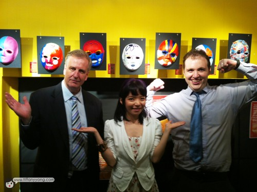With the Principal Mr Matthew Cole and the Marcom & Sales Manager Mr Stephen MaCann.