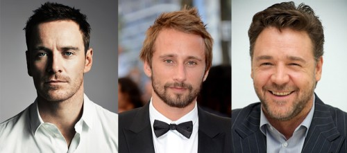 Michael Fassbender, Matthias Schoenaerts, and Russell Crowe